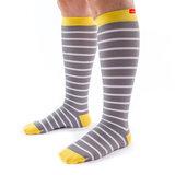 Vim&Vigr steunkousen klasse 1 - nylon - dames grijs/wit/geel_