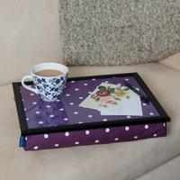 schootkussen (lap-tray) lila gestipt