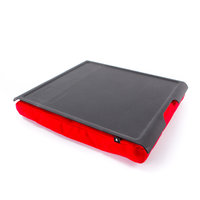 Laptray anti slip zwart/rood