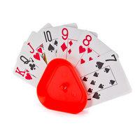 Kaartenhouder driehoek - rood