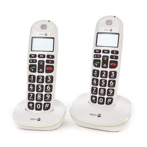 Doro PE - 100W draagbare telefoon dubbel wit