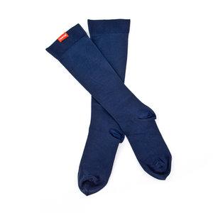 Vim & Vigr steunkousen klasse 2 - moister wick nylon solid - mannen blauw