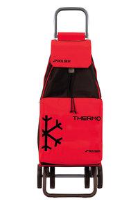 Boodschappentrolley isolerend Mountain - rood/zwart