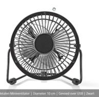 mini ventilator usb aansluiting 10cm